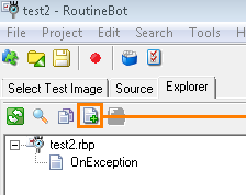 "Click ""Attach file to the project"" button"